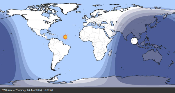 If the time at meridian 36°E sets the sun 18 minutes earlier than Day And Night Map on