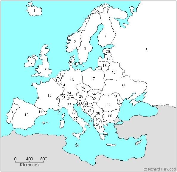 Berapa Banyak Negara Di Eropa Yang Dapat Kamu Identifikasikan Di Peta Buta Quora