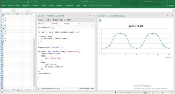 how to create a wave chart in excel