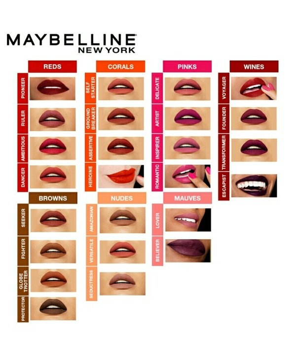 Which Shades Of Maybelline New York Super Stay Matte Ink