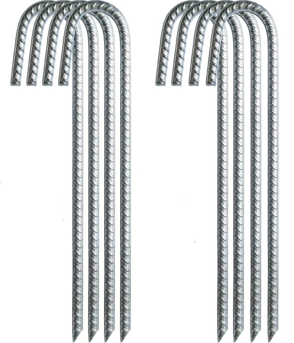 pegs Tent pegs with V-profile ground anchor made of galvanised steel for fixing and fixing in the ground.