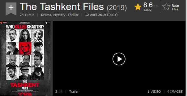 What is your review of The Tashkent Files (2019)? - Quora