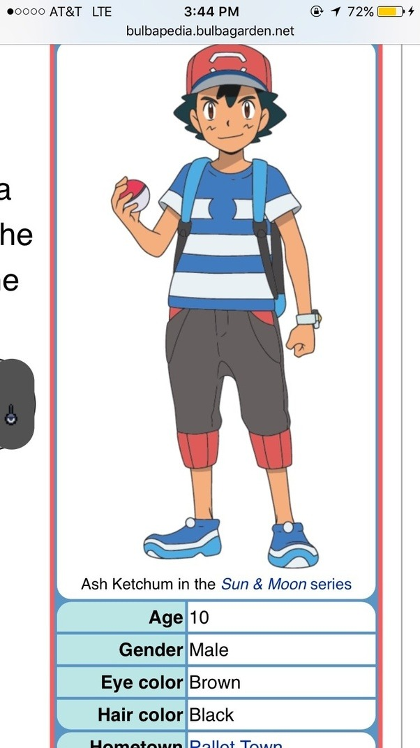 how old is ash ketchum in alola quora