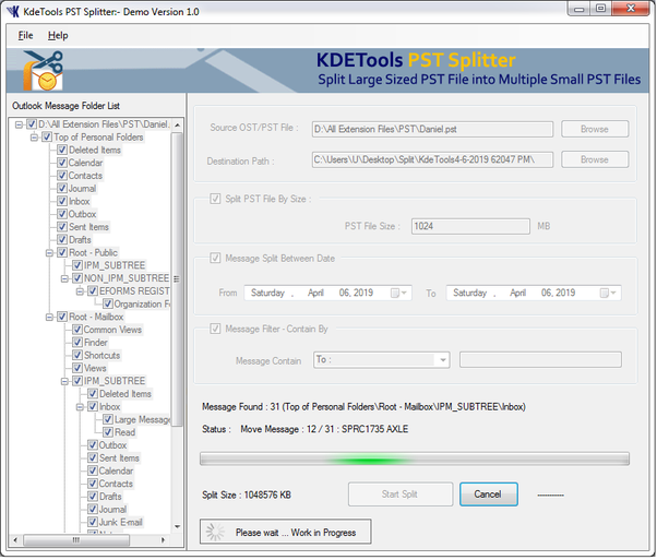 Kernel for outlook pst repair portable