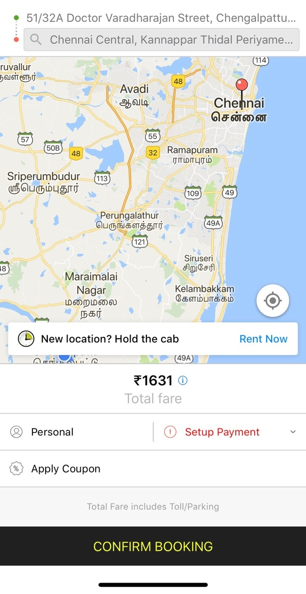 How to book a cab in chengalpattu quora book a cab to anywhere in chennai through ola or uber from mahindra world city gumiabroncs Images