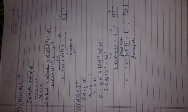 K Electron Configuration How is [Ni(NH3) 6] 2+ ...