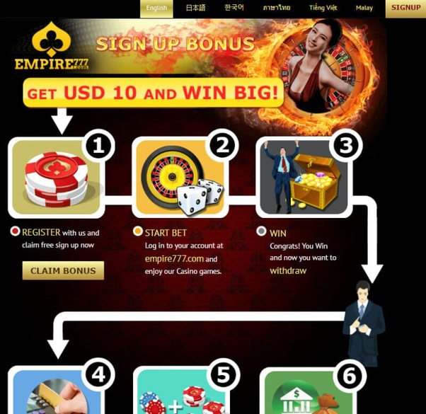 What online casino sites provide a good sign up bonus offer in