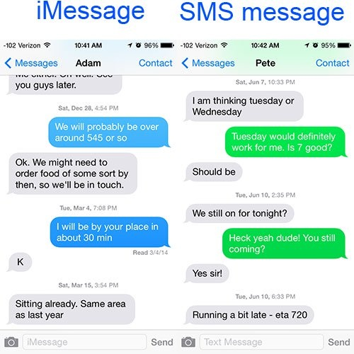 Why did Apple choose to make iMessage bubbles blue and ...