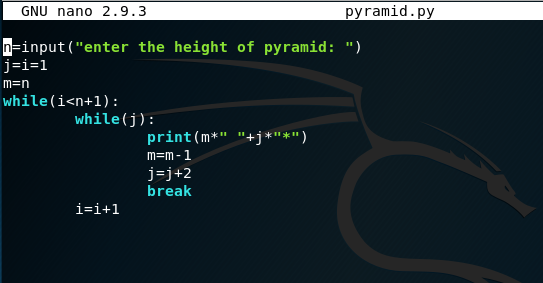 How to print pyramid pattern in python - Quora