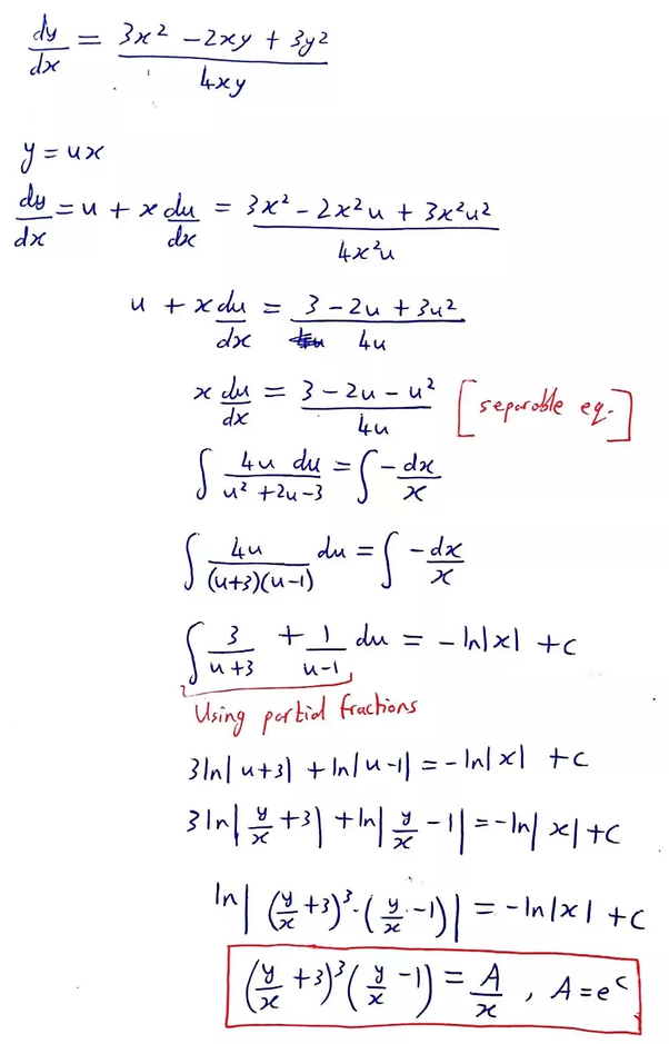 What is the general solution to the differential equation