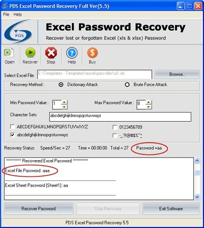 how to decode password in excel