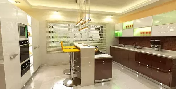The Parallel Shape Modular Kitchen Also Recognized As The Passageway Style  Of Kitchen, In This Design You Can Have Your Appliances, Cabinets And Sink  On Two ...