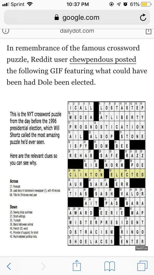 What Are Some Ingenious Cryptic Crossword Clues Along With Their Answers Quora