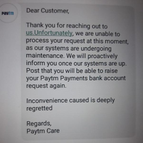 Pourquoi est en attente montré dans ma banque de paiement Paytm pour la vérification KYC comme je l'ai vérifié?