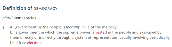 Consolidating democracy definition merriam-webster