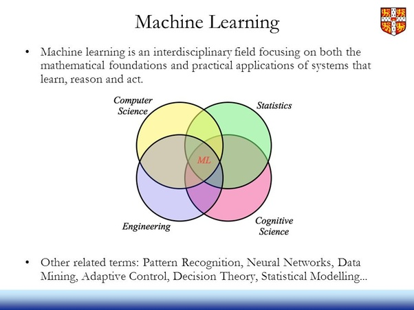 What role do statistics play in machine learning? - Quora