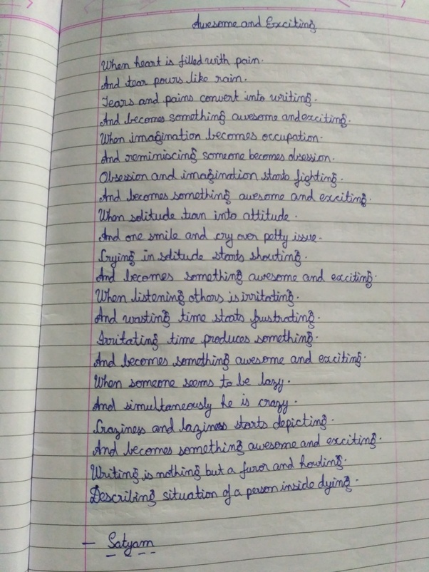 how to write a great poem