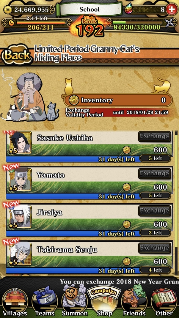 How to get granny cat coins in Naruto: Ultimate Ninja