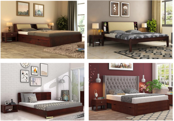 beds are an integral part of the home and play a big role in the interior of the bedroom at woodenstreet you will see a lot of designs and types of beds