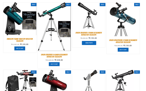 I want to buy a telescope in India  What are some good