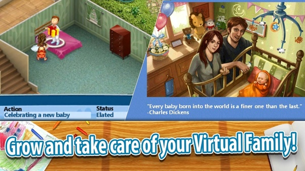 Online games like the sims