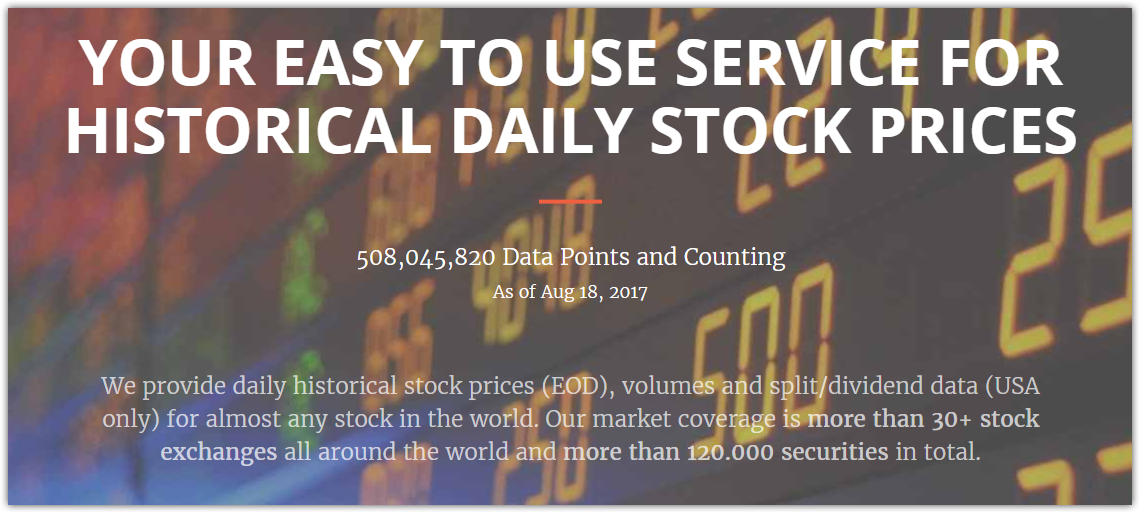 What are some good APIs for stock exchanges data? - Quora