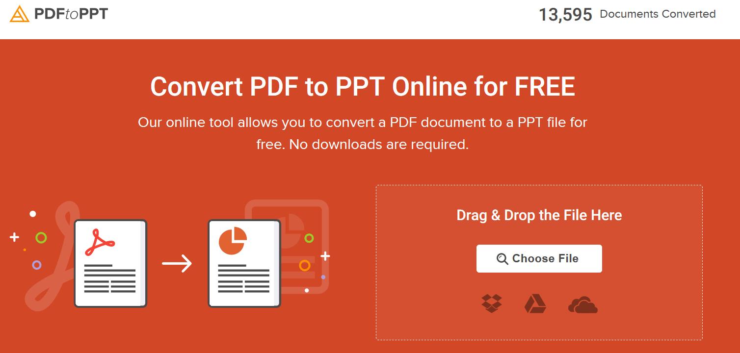 convertir pdf to ppt online free