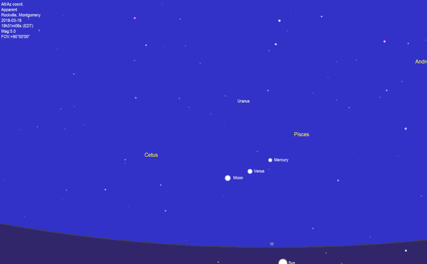 Which is that star which always appears next to the moon? - Quora