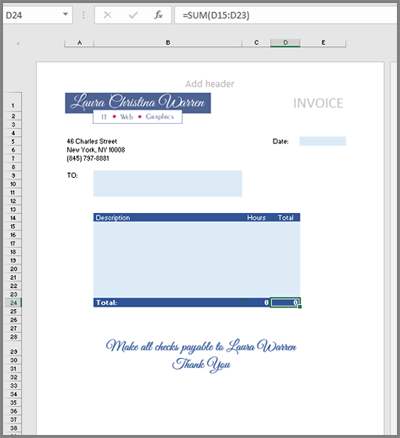 How To Create An Invoice Template In Excel Quora