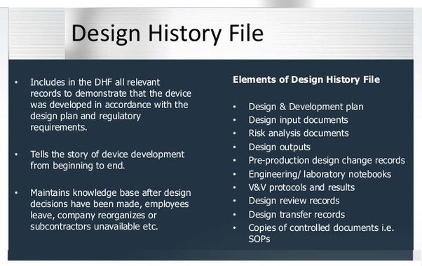 What is the design history file? - Quora