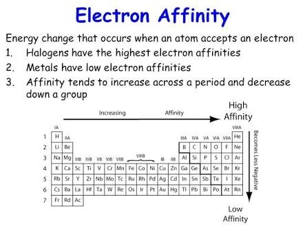 Why Do Halogens Have A High Electron Affinity Quora