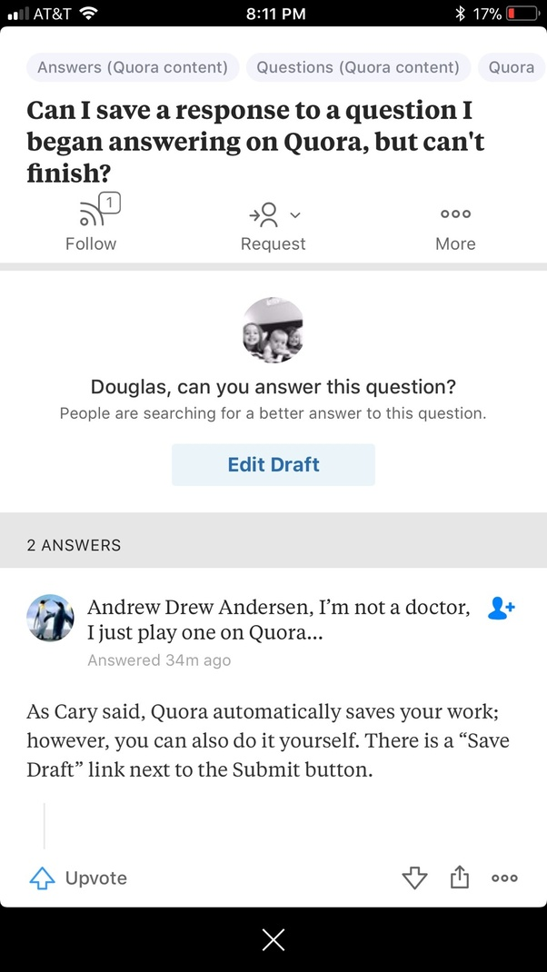 Can i save a response to a question i began answering on quora but later on when you want to finish hit the answer tab on the bottom solutioingenieria Gallery