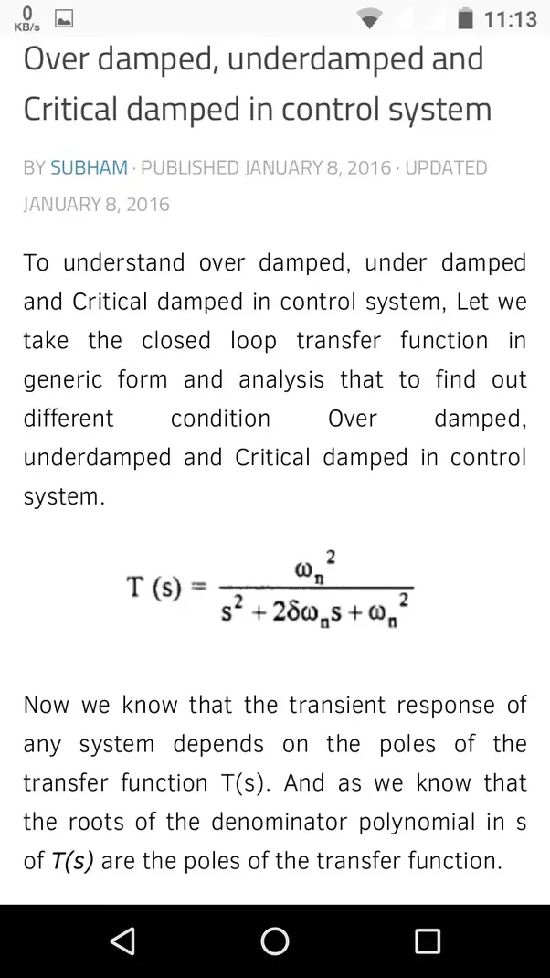 What Are Over Damped Critically And Under Damped Systems Quora