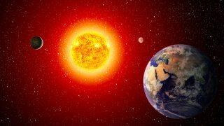 Image result for In only 7.6 billion years, the sun will reach its maximum size and will shine 3,000 times brighter.