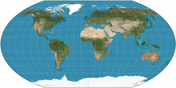 Is there a world map or globe that realistically shows the sizes the goode homolosine projection gumiabroncs Images