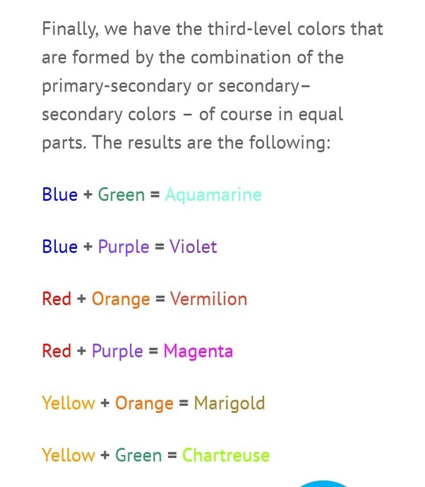 Primary Color Combine To Give Secondary