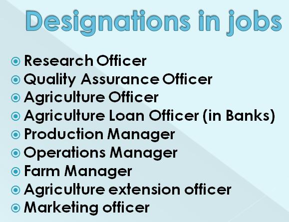 Agriculture b.sc jobs