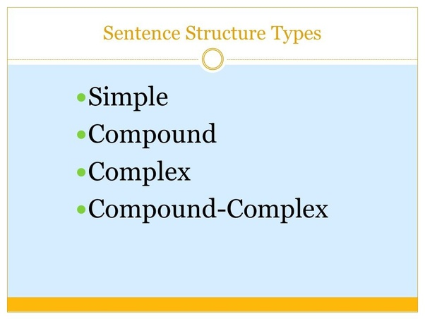 the different types of sentences