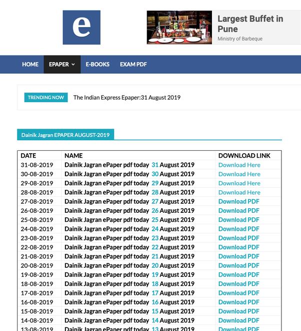 Dainik jagran e paper pdf