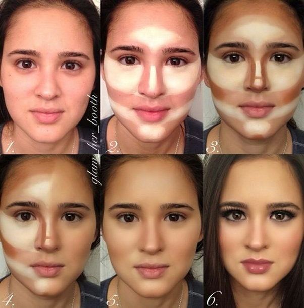 The Use Of A Bronzer In These Areas In A Specific Manner Depending On The Face Shape Helps Make The Face Look Slender And In Shape