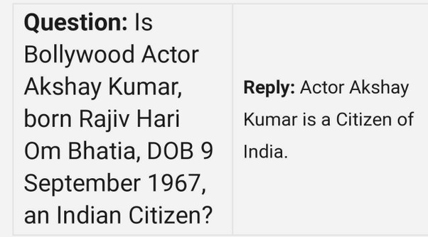 Why Did Akshay Kumar Take Up Canadian Citizenship Quora