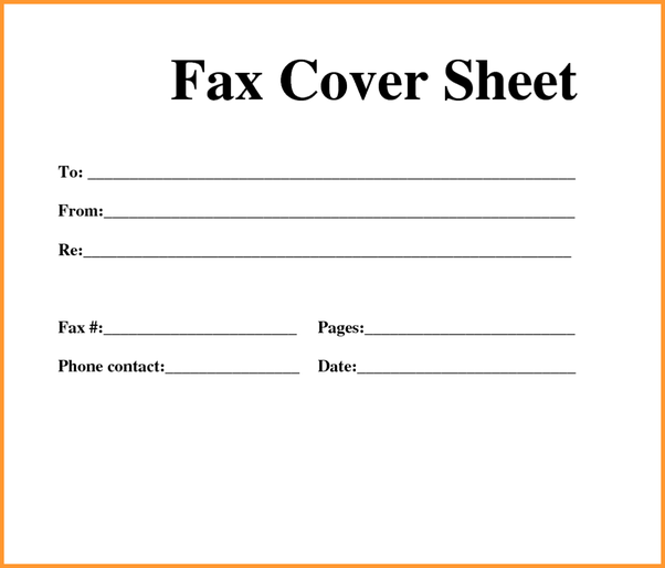 what is a fax cover sheet