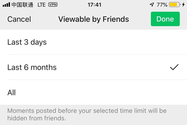 Wechat Only 3 Days Of Moments Are Viewable