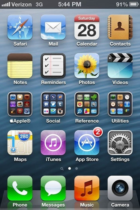 It's 2012. What does your iPhone Home Screen look like and ...