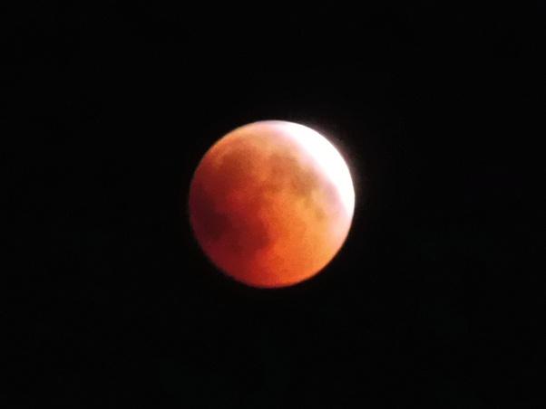 A picture of a lunar eclipse.