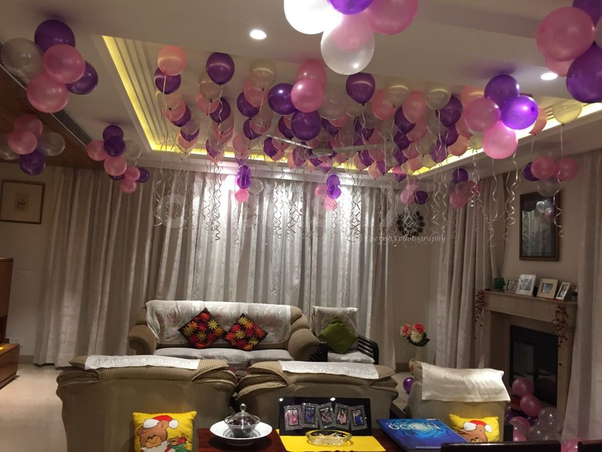Balloon Surprise Decoration Can Be A Good And Unique Gift For Your Husbands Birthday Send Him