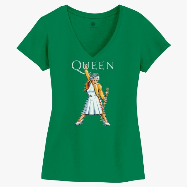 5ccfe2a8 Elizabeth The Queen Parody Women's V-Neck T-shirt | Customon.com