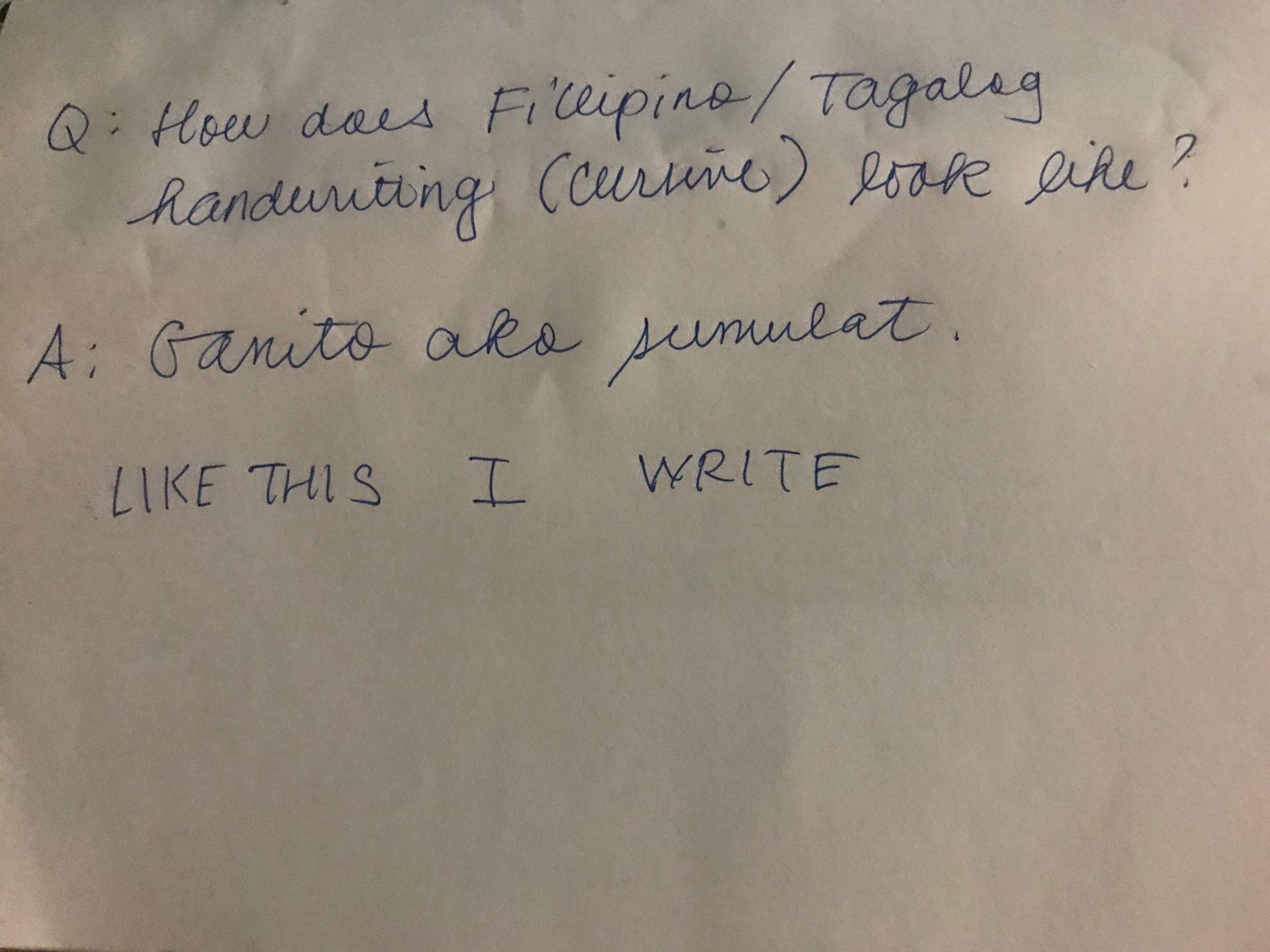 How Does Filipino Tagalog Handwriting Cursive Look Like Quora