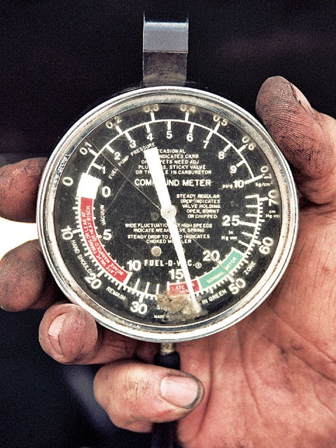 With vacuum gauge tuning Technical