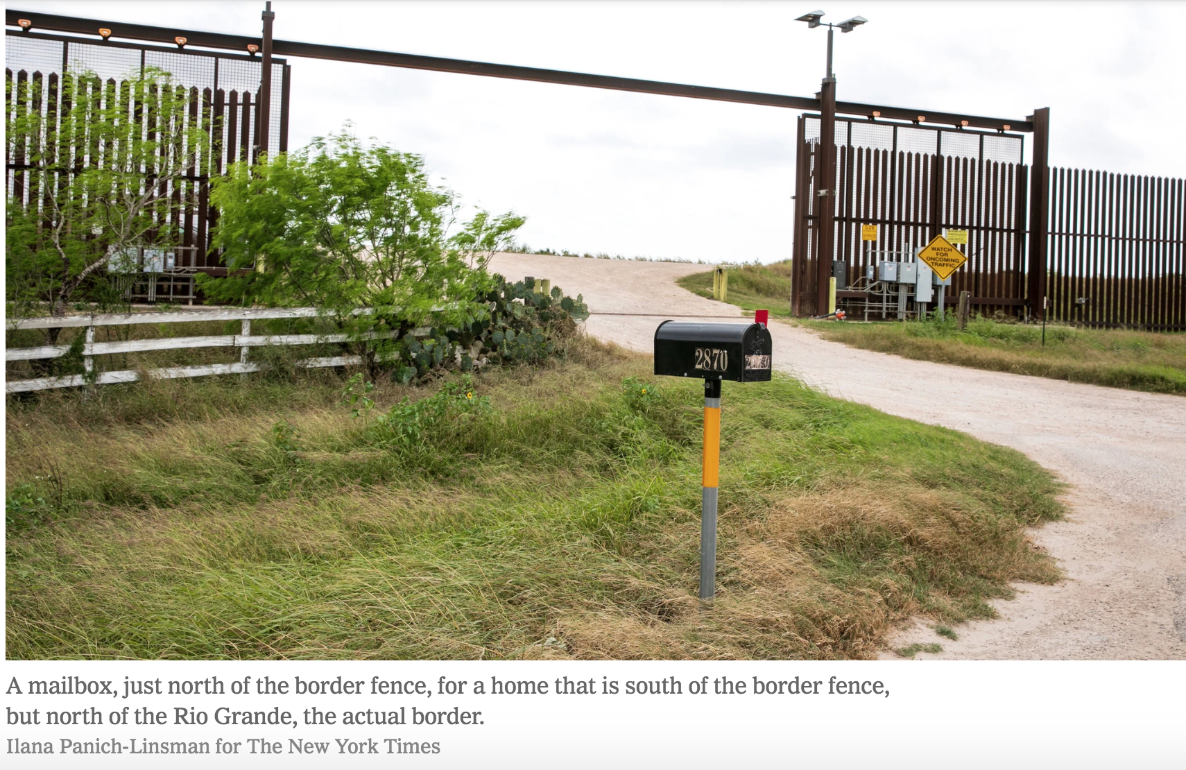 Will the land between Trump's Wall and the borderline become
